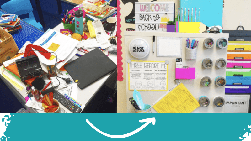 17 Tricks for Keeping Your Teacher Desk Organized Yes Really
