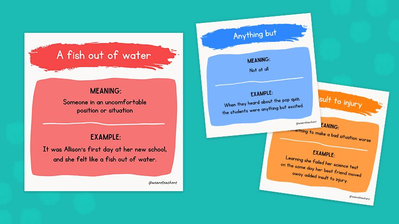 50 Idioms to Teach Kids and Use in Idiom of