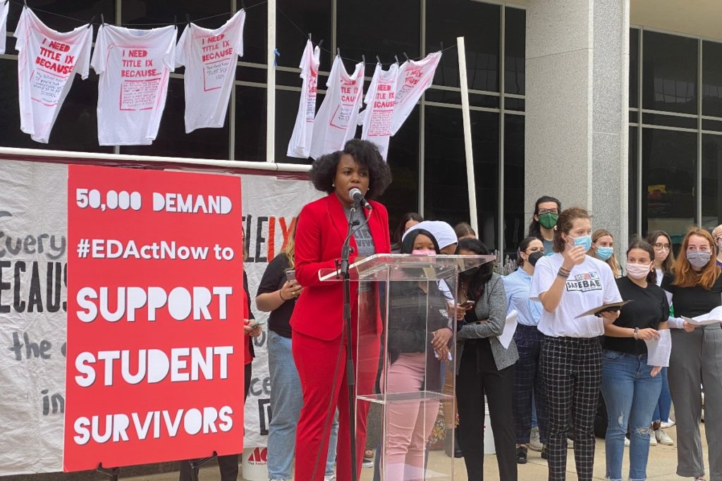 Groups deliver EDActNow petition to Education Department