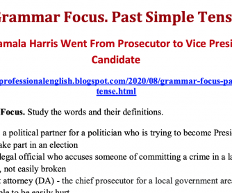 Past Simple Tense How Kamala Harris Went From Prosecutor to