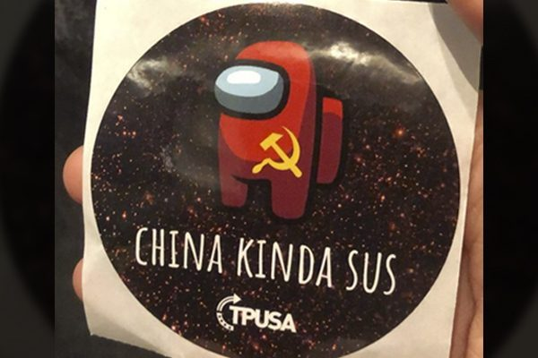 Right wing student group suspended over anti China stickers