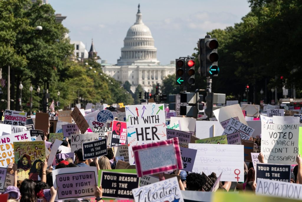 Students protest restrictive Texas abortion law